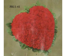 Traditional Floral Remembrance FR11-41 Red Heart