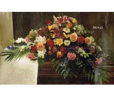 Traditional Floral Remembrance FR14-21 Casket Spray