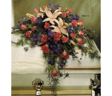 TRADITIONAL FLORAL REMEMBRANCE FR26-11 Casket Spray