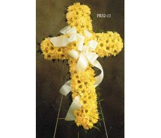 TRADITIONAL FLORAL REMEMBRANCE FR32-11 Cross
