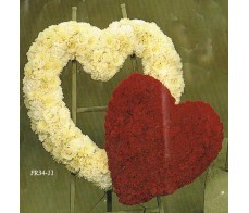 Traditional Floral Remembrance FR34-11 Heart