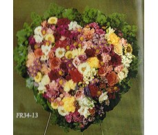 Traditional Floral Remembrance FR34-13 Heart