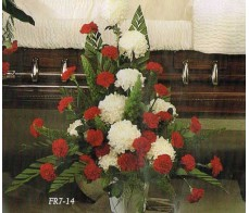 Traditional Floral Remembrance FR7-14 Casket Spray