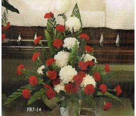 Traditional Floral Remembrance FR7-14 Casket Spray
