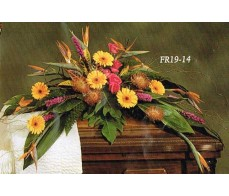 TRADITIONAL FLORAL REMEMBRANCE FR19-14 Casket Spray