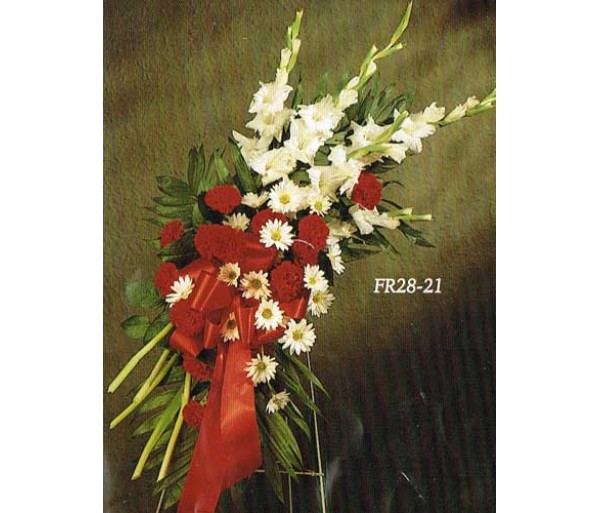 TRADITIONAL FLORAL REMEMBRANCE FR28-21 Standing Spray