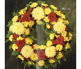 TRADITIONAL FLORAL REMEMBRANCE FR31-21 WREATH