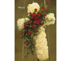TRADITIONAL FLORAL REMEMBRANCE FR32-21 Cross
