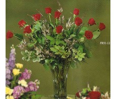 Traditional Floral FR51-12 Arrangement Roses