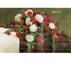 Traditional Floral Remembrance FR7-13 Casket Spray